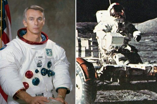Posledný človek na Mesiaci bol E. A. Cernan, rodák z Kysúc